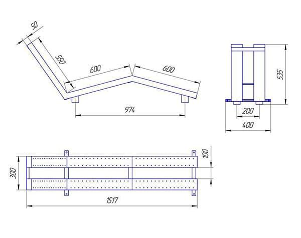 Схема - лежак аэромассажный