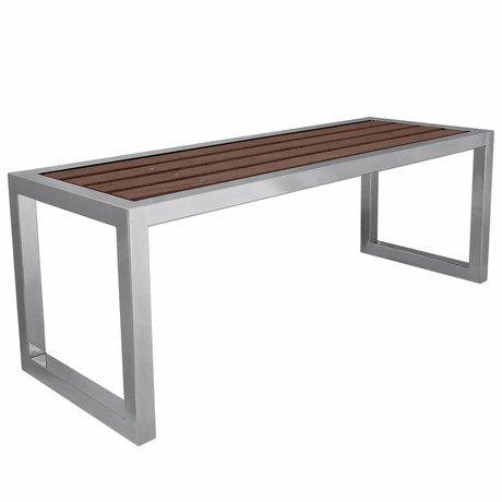 Купити Лавка Laris із нержавіючої сталі з терасною дошкою - 1